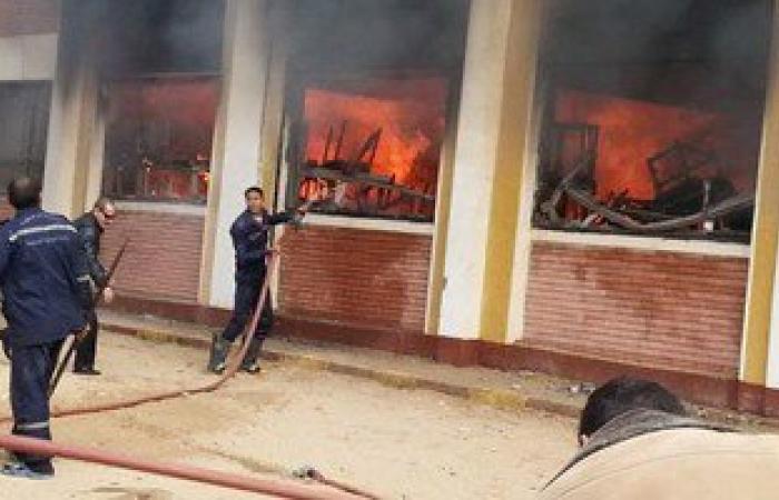 اندلاع حريق فى مدرسة الصنايع بديرب نجم.. وفزع الطلاب بلجان الامتحانات