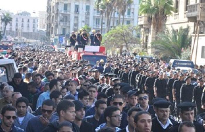 جنازة عسكرية لشهيد سيناء فى الدقهلية.. وهتافات ضد الإخوان والإرهاب