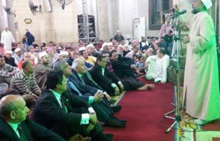 """الإسكندرية تحتفل بالإسراء والمعراج بـ""""المرسى أبو العباس"""" فى حضور المحافظ"""