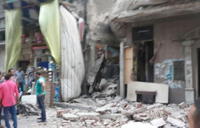 بالصور.. انهيار عقار من 3 طوابق بمنطقة جليم فى الإسكندرية