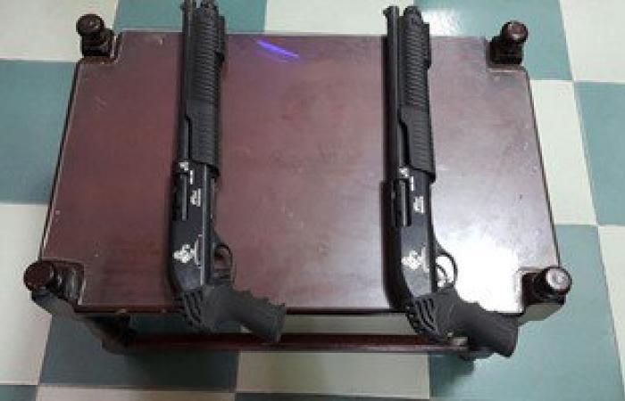 القبض على 4 عاطلين بحوزتهم أسلحة نارية وطلقات فى بنى سويف