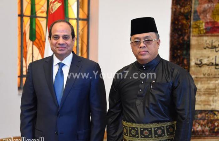 صور استقبال الرئيس السيسى لـ 11 سفيرا جديدا لدى مصر