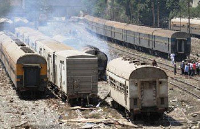 مصرع عامل وإصابة آخر إثر سقوطهما من قطار بمحطة سكك حديد بلصفورة فى سوهاج