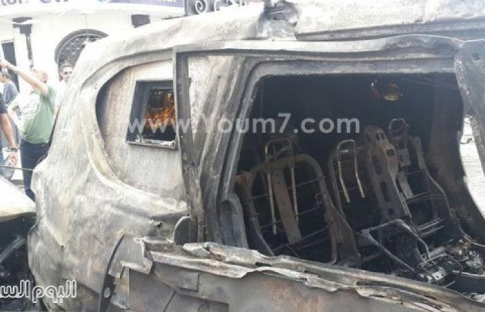 صورة لمصحف محترق داخل سيارة النائب العام عقب استهدافه