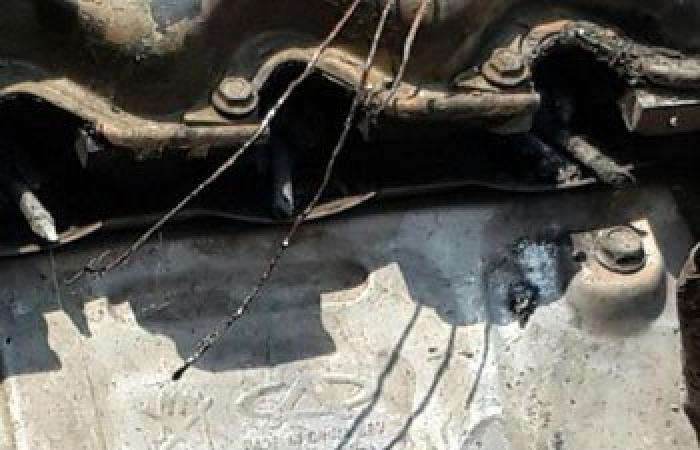 بالصور..بقايا السيارة المتسببة فى اغتيال النائب العام