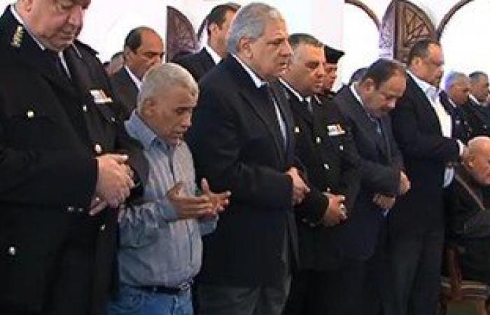 انتهاء مراسم دفن جثمان النائب العام بمقابر العائلة فى القطامية