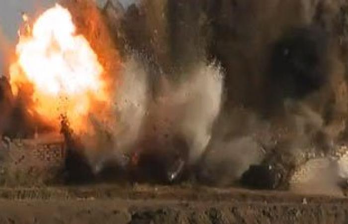 إرهابيون يفجرون منزل أمين شرطة خالٍ من السكان بالعريش