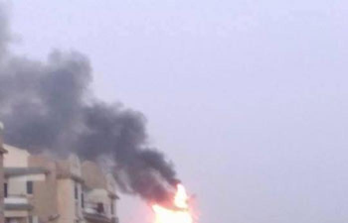 بالصور.. اندلاع النيران فى شبكة اتصالات لشركة محمول بالعاشر من رمضان