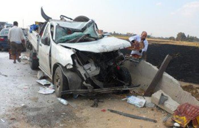 مصرع شخص وإصابة 4 آخرين فى حادث تصادم سيارتين بالوادى الجديد