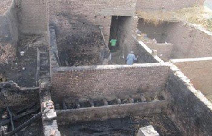 حريق يلتهم 3 منازل ونفوق 17 رأس غنم وماشية فى سوهاج