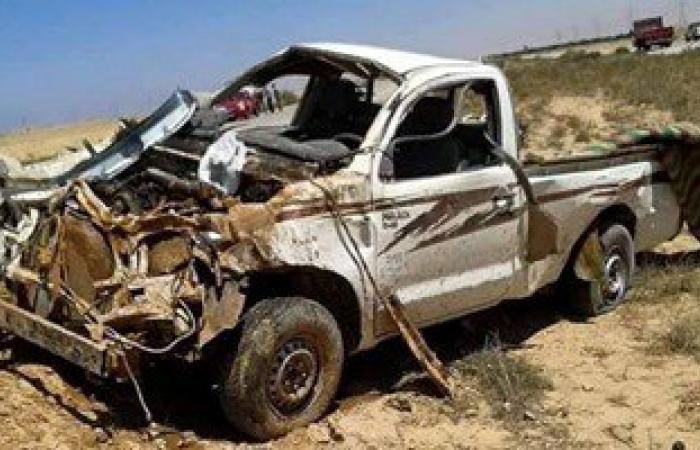 مصرع شخص وإصابة اثنين آخرين فى حادث انقلاب سيارة بكفر الشيخ