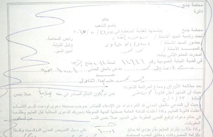 """إعلان """"التنمية المحلية"""" ومحافظ القاهرة بحكم حبس رئيس حى الزيتون بعد 8 أسابيع من الصدور"""