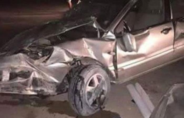 مصرع ربة منزل وإصابة 4 فى حادث انقلاب سيارة بطريق أسيوط القاهرة
