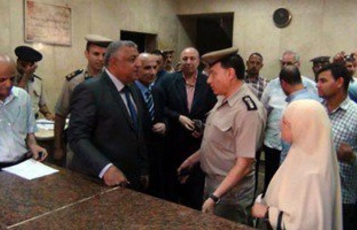مساعد وزير الداخلية لوسط الدلتا يتقفد أقسام الشرطة بالمنوفية