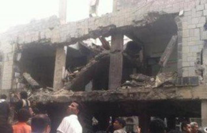 """بالفيديو.. لحظة تفجير منزل الشيخ محمد الجمال على يد الحوثيين بـ""""إب"""""""