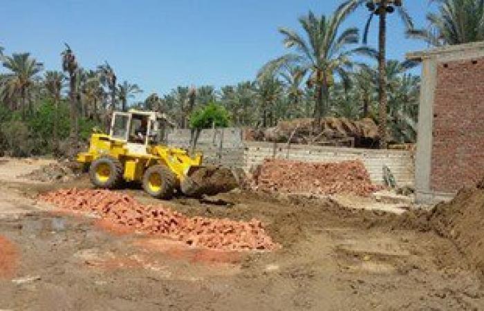 إزالة حالة تعدٍّ على أرض زراعية فى قرية السنانية بدمياط