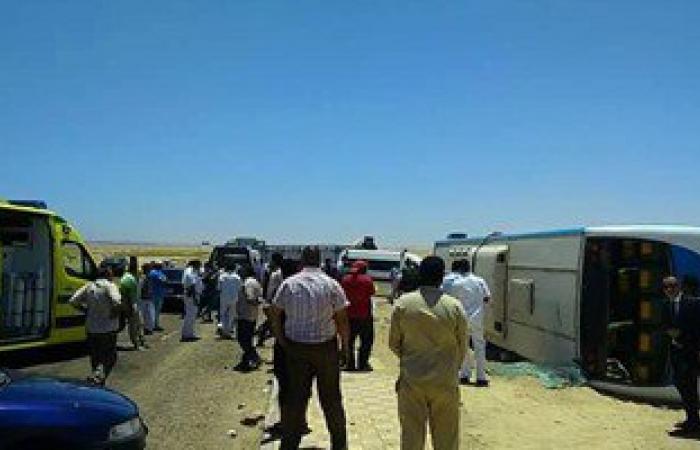 """""""صحة سوهاج"""": 7 وفيات و45 مصابا فى حادث أتوبيس طريق البحر الأحمر"""