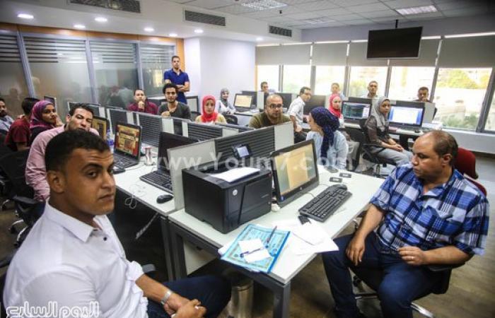 """مستشار الرئيس الفلسطينى والوفد المرافق يزورون """"اليوم السابع"""""""