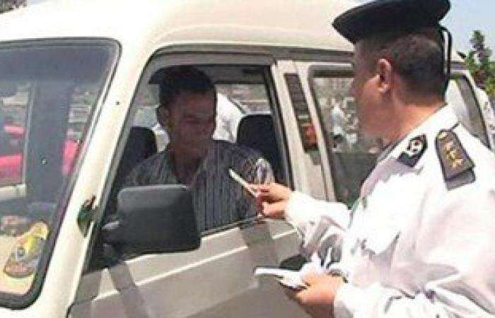 ضبط 2503 مخالفات مرورية متنوعة بشوارع وميادين الجيزة