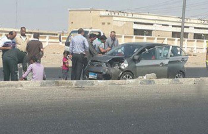 إصابة شخصين فى حادث تصادم بالطريق الصحراوى بالبحيرة