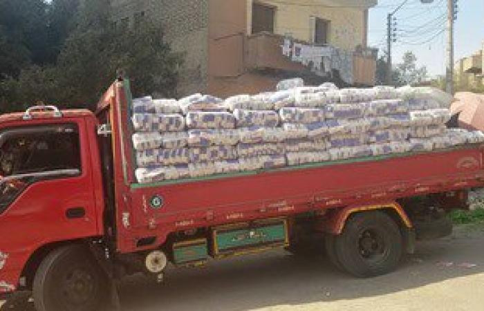 ضبط سيارة محملة بـ9 أطنان سكر ناقص الوزن فى بنى سويف