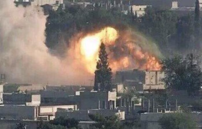 مقتل 12 شخصا فى غارات على الرقة شمال سوريا