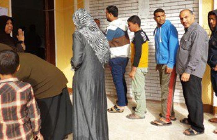 بالصور.. أهالى أبو صقل بدائرة العريش يدلون بأصواتهم فى الانتخابات