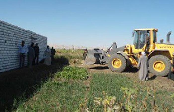 الزراعة: إزالة 1051 حالة تعد على الأراضى فى الغربية والقليوبية والقاهرة