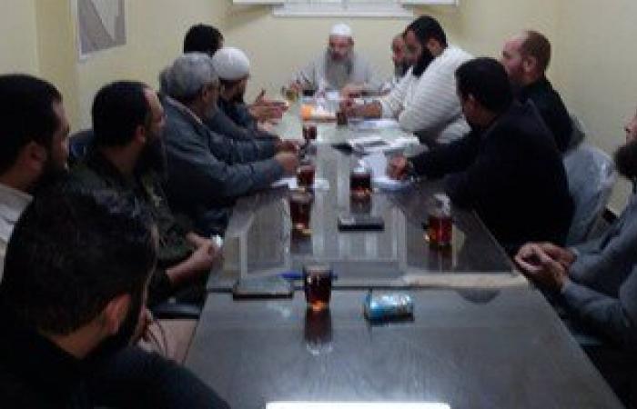بالصور..اجتماع أعضاء النور بالإسكندرية لمتابعة المستجدات السياسة