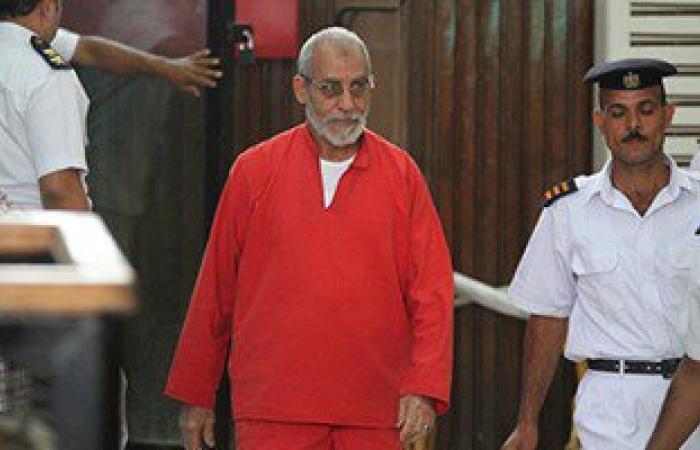 محكمة النقض تعيد محاكمة محمد بديع و36متهما فى قضية غرفة عمليات رابعة