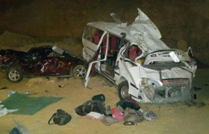 """مصرع """"عروسة"""" بليلة زفافها وإصابة 13 آخرين فى حادث تصادم سيارتين بأسيوط"""