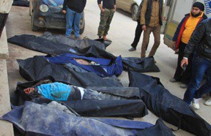 بالصور.. مقتل 36 شخصا على الأقل فى غارات جوية على مدينة إدلب السورية