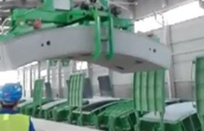 بالفيديو.. مصنع الحلقات الخرسانية المستخدمة فى إنشاء أنفاق قناة السويس