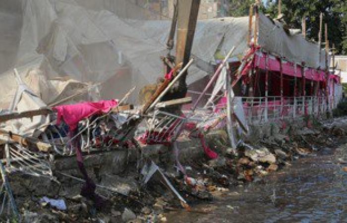 إزالة 4,5 فدان من التعديات على مجرى نهر النيل فى الدقهلية
