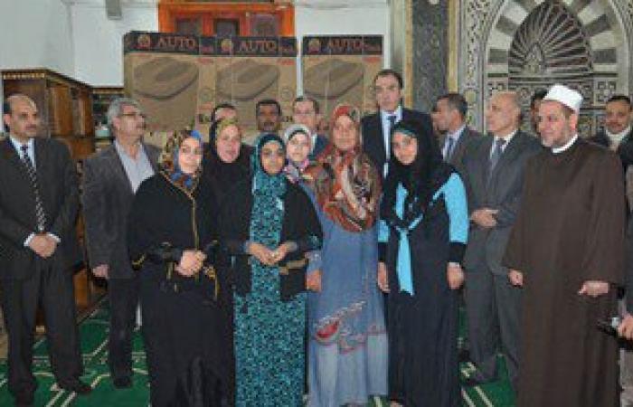 محافظ بنى سويف يكرم أسر شهداء القوات المسلحة والشرطة