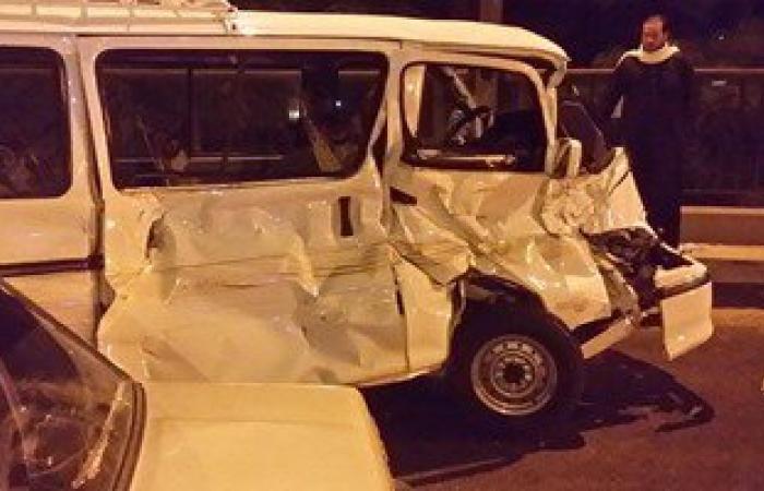 إصابة 6 أشخاص فى حادث انقلاب سيارة بالمنيا