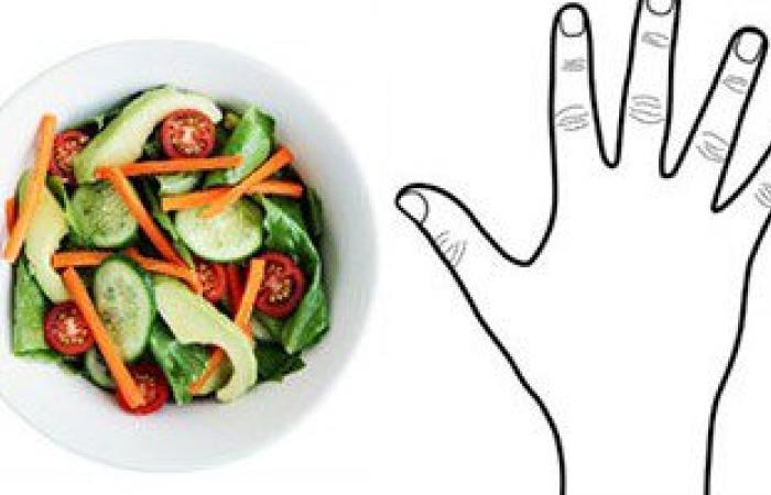 بالصور.. كف إيدك يحدد كمية الأطعمة المناسبة لك يوميا