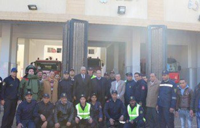 بالصور.. محافظ السويس ومدير الأمن يتفقدان إدارتى الحماية المدنية والمرافق