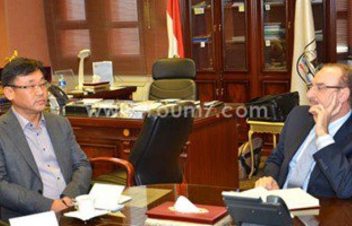 محافظ بنى سويف يستقبل رئيس شركة سامسونج مصر ويؤكد على تذليل المعوقات