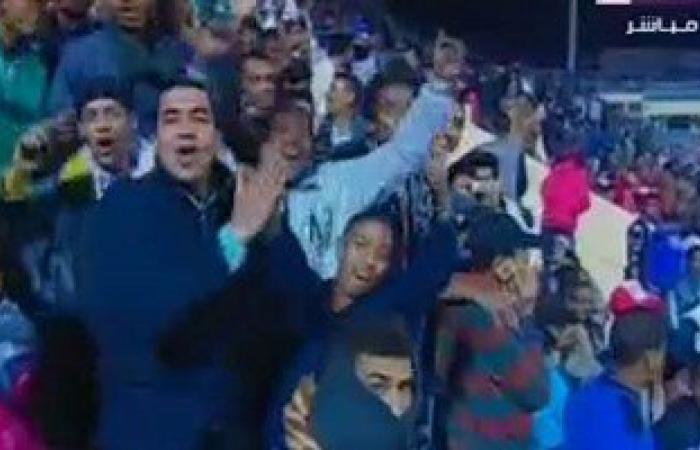 """مصدر بـ""""أمن أسوان"""": 2من الجمهور تعرضا للإغماء وتم علاجهما بمباراة مصر وليبيا"""