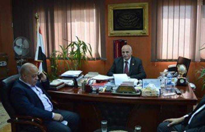 """بالصور.. """"الشباب والرياضة"""" تستقبل قنصل فلسطين بالإسكندرية"""