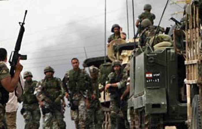 الجيش اللبنانى يدمر آلية للمسلحين.. ويوقف مسئولا عن تفجير إرهابى