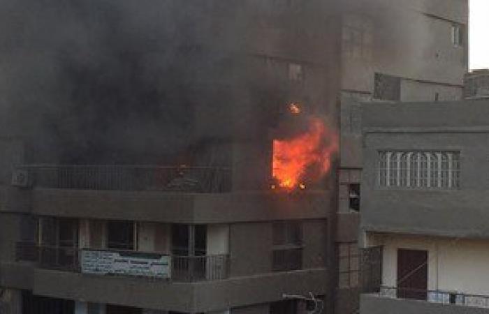 اندلاع حريق فى 3 شقق سكنية بأحد عقارات حى الزهور فى بورسعيد