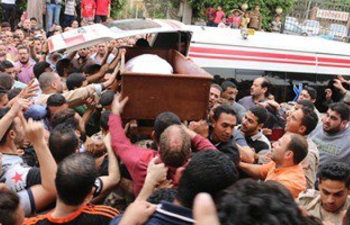 بالصور.. تشييع جنازة شهيد تفجيرات سيناء فى المنوفية
