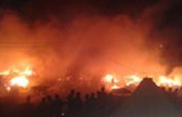 نشوب حريق بالمخلفات الزراعية بالقوصية بسبب الرياح الشديدة