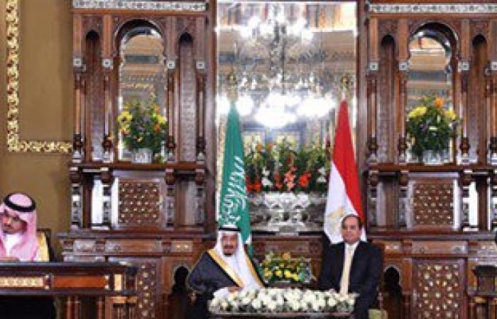 رفع صور الرئيس السيسى وخادم الحرمين الشريفين أمام مجلس النواب