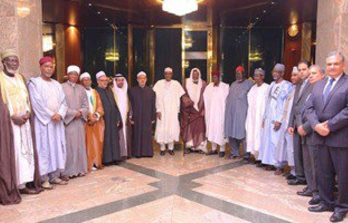 الرئيس النيجيرى لشيخ الأزهر: زيارتكم فخر لنا ونقدر جهودكم لنشر الوسطية
