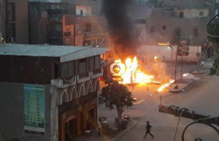 حريق هائل بمحطة وقود فى أبوقرقاص بالمنيا.. والحماية المدنية تحاول السيطرة