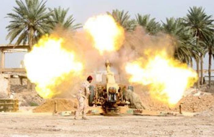 طيران العراق والتحالف الدولى يقصف داعش فى الصقلاوية غربى الفلوجة
