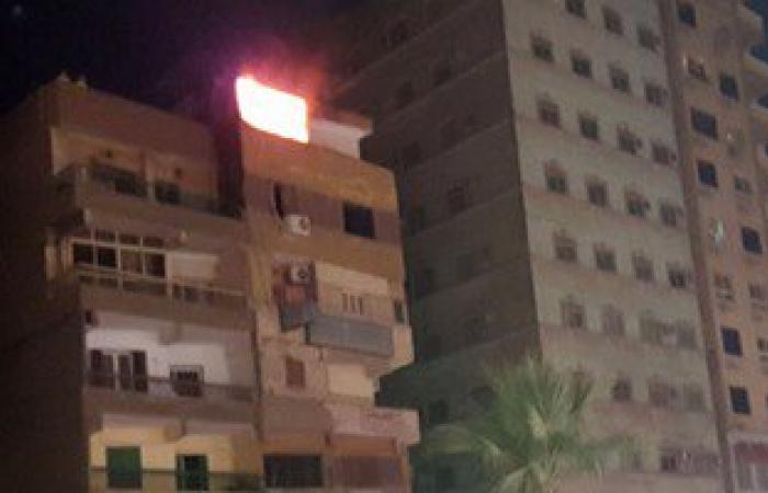 """""""الحماية المدنية"""" تسيطر على حريق فى برج سكنى بالمنيا"""